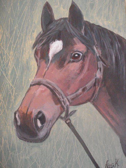 Jana Kosec, slika konja