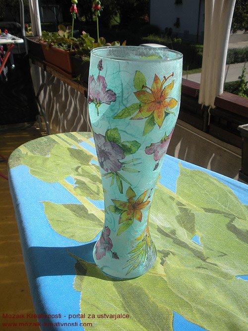 Vaza, servietna tehnika