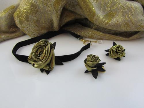 Tina Vehovar -  komplet zlate vrtnice
