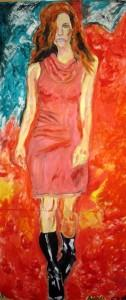 Ženska v rdečem, Maja Kastelic
