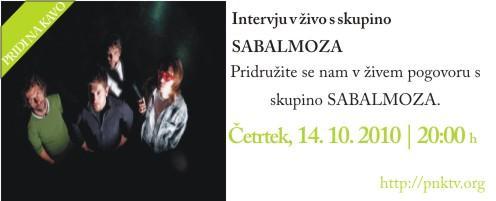 Intervju v živo s skupino Sabalmoza