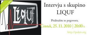 Intervju v živo z glasbeno skupino LIQF.