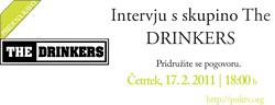 Intervju v živo s skupino The Drinkers