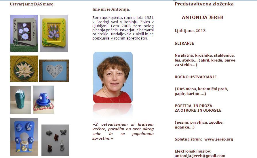 Antonija Jereb - predstavitev - poezija, das masa, pesmi