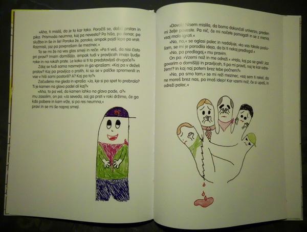 Pravljica o igrivih in nagajivih prstih - Antonija Jereb, notranjost